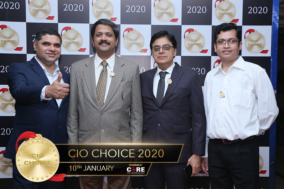 Milind Khamkar with Pravin Savant and other @ CIO Choice 2020